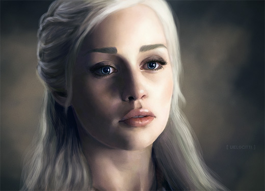 Daenerys speed paint game of thrones illustration artworks