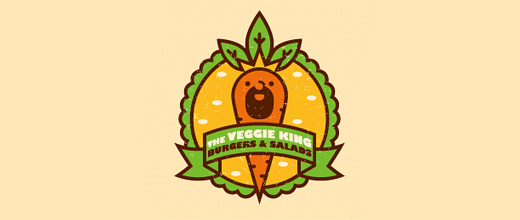 King cute carrot logo design collection