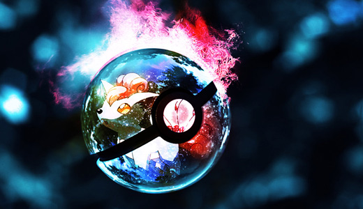 Vulpix flame pokeball designs wallpapers free download