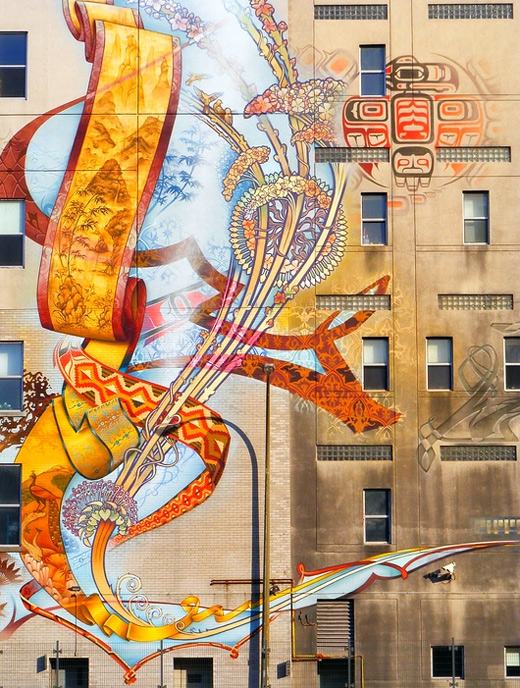 cool building design graffiti artworks