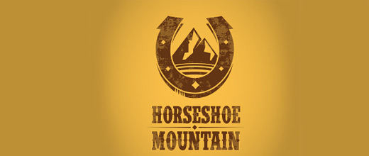 Horse ranch mountain logo design collection