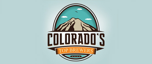 Brewer top mountain logo design collection