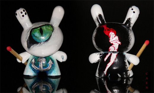 Cat eye dunny vinyl toys design