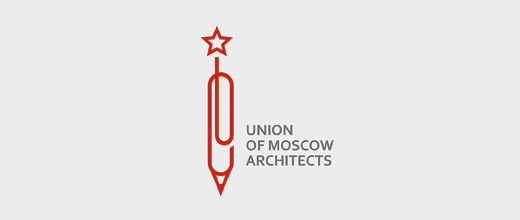 Pen pencil star paper clip logo design collection