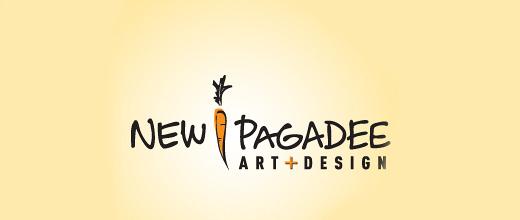 Cute art carrot logo design collection