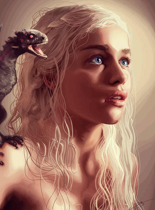 Daenerys targaryen game of thrones illustration artworks
