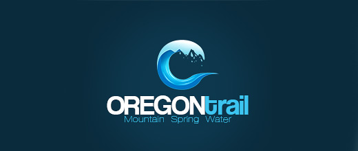 Spring water mountain logo design collection