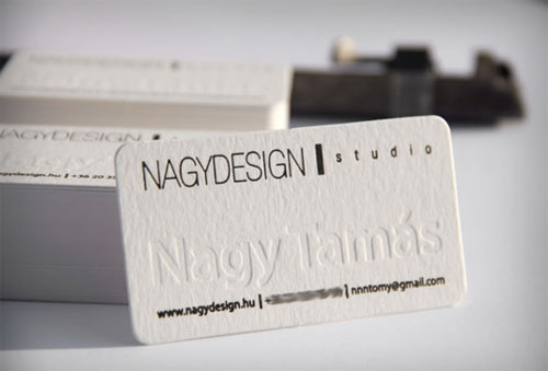 Nagy Design business card