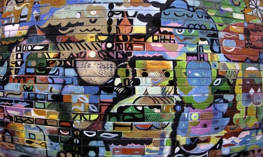 Abstract graffiti artworks collection