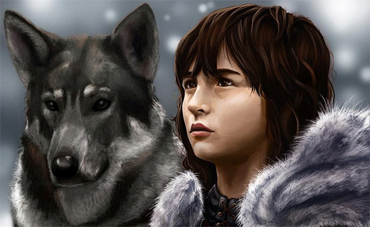 Bran stark game of thrones illustration artworks