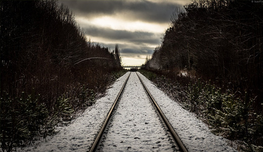 Snow railroad free download wallpapers