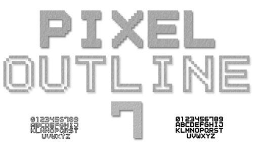 Outline Pixel 7 font