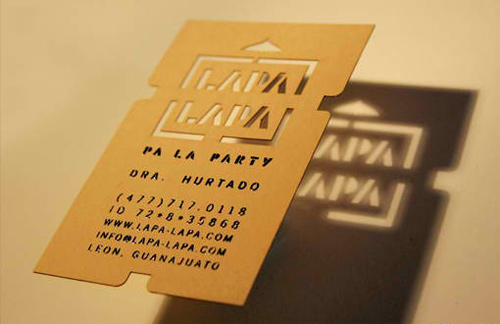 Silk Screened Business Card