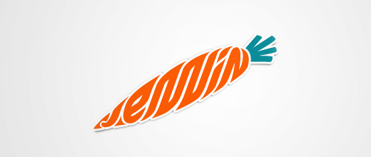 Creative carrot logo design collection