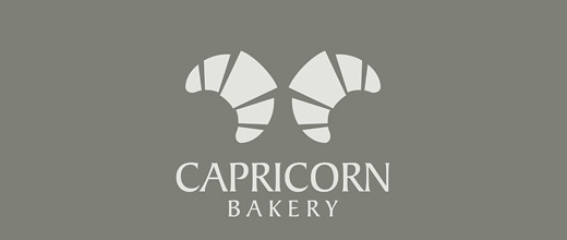Croissant horn bread logo designs collection