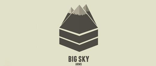 Triangle ice cap mountain logo design collection