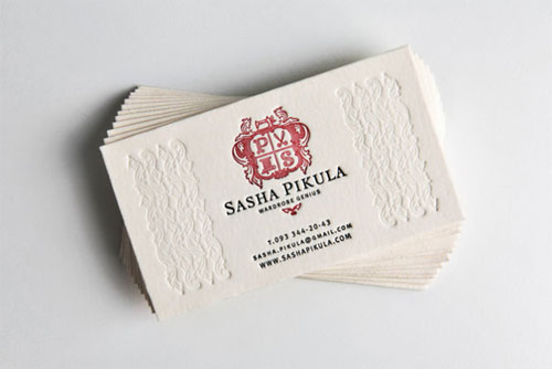Sasha Pikula business card