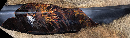 Black eagle feather painting
