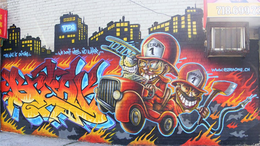 Firefighters firemen graffiti artworks collection