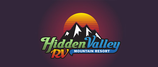 Resort mountain logo design collection