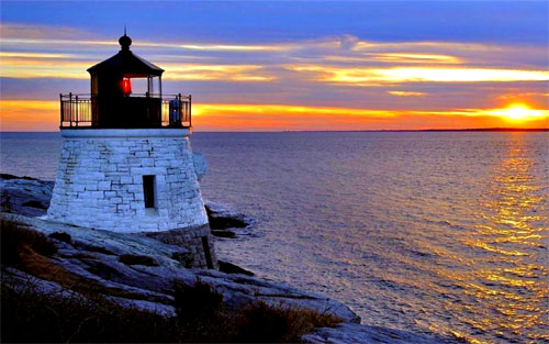 LIGHTHOUSE at DUSK wallpaper