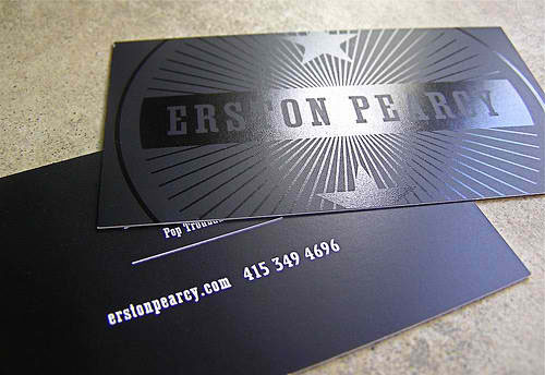 Erston Pearcy Business Card