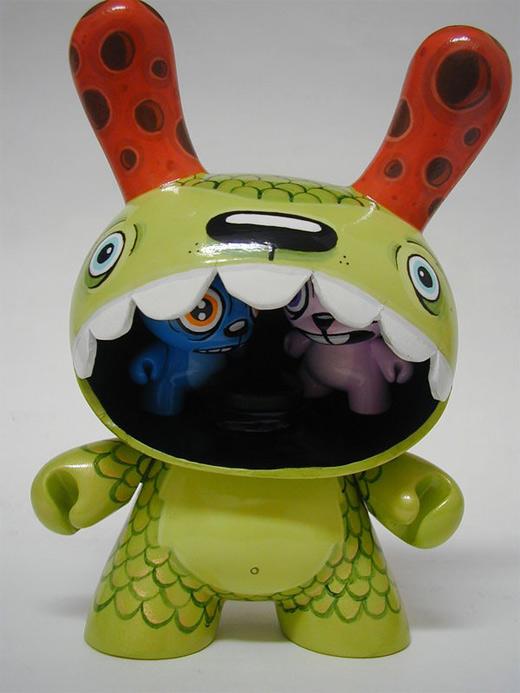 8 inch green dunny vinyl toys design
