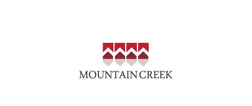 Simple minimalist mountain logo design collection