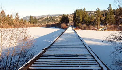 Snow winter railroad free download wallpapers