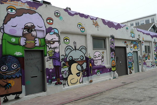 Cartoon graffiti artworks collection