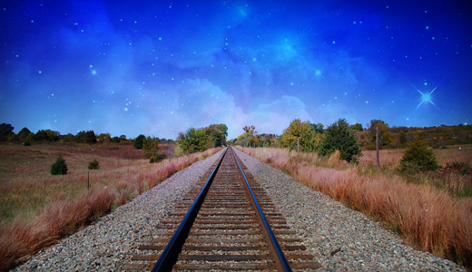 Dreamy railroad free download wallpapers