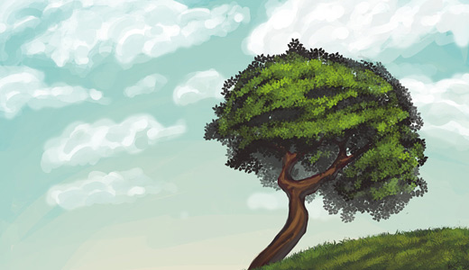 Painting trees free download wallpapers high resolution hi res