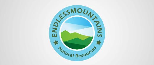 Sharp lines mountain logo design collection
