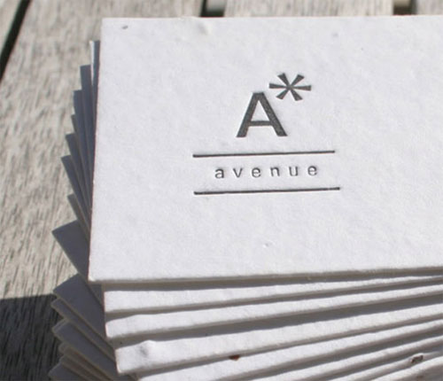 Aster Avenue business card