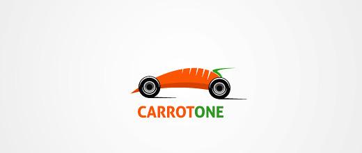 Car carrot logo design collection