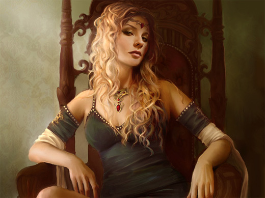Cersei game of thrones illustration artworks
