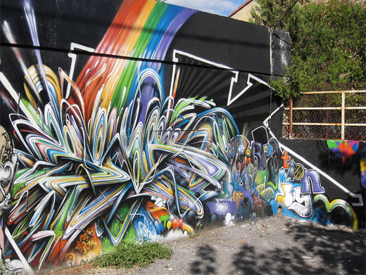 Colorful graffiti artworks collection