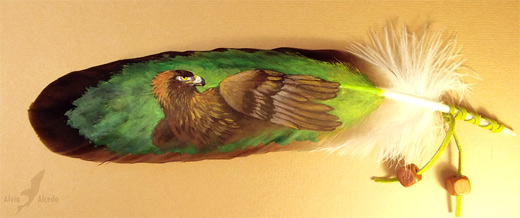 Eagle bird feather painting