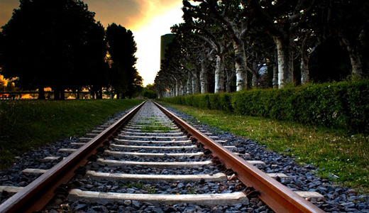 Sunset railroad free download wallpapers