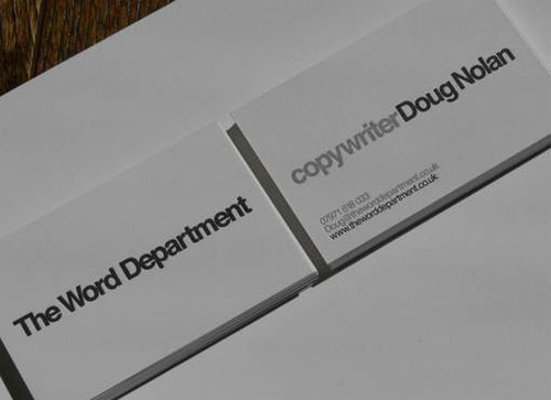 Word Department Design business card