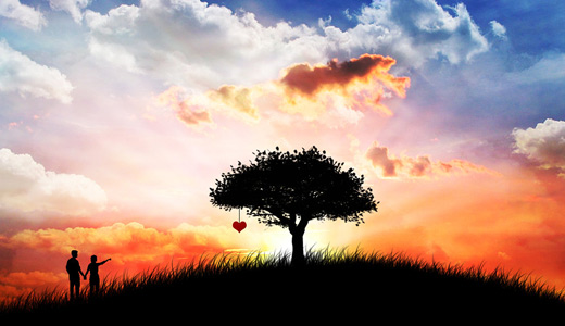 Couple heart love sweet trees free download wallpapers high resolution hi res