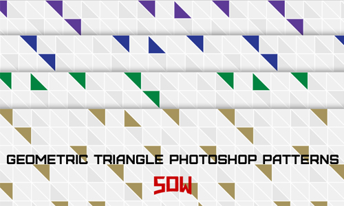 Modern Geometric Triangle Photoshop Patterns