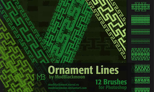 MB Ornament Lines brushes