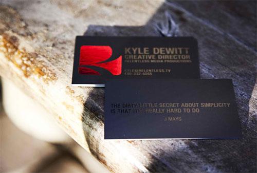 Kyle Dewitt Business Card