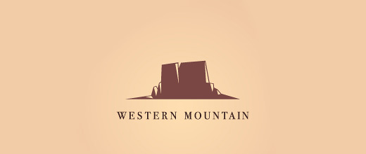 Western cowboy mountain logo design collection