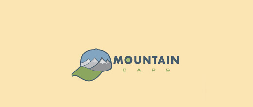Caps mountain logo design collection