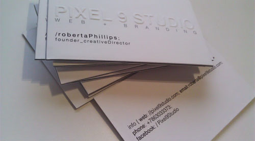 Pixel 9 Studio business card