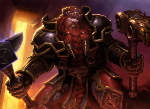 Dwarf warrior world of warcraft illustration artworks