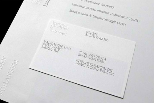 Hostrup-Pedersen & Johansen business card