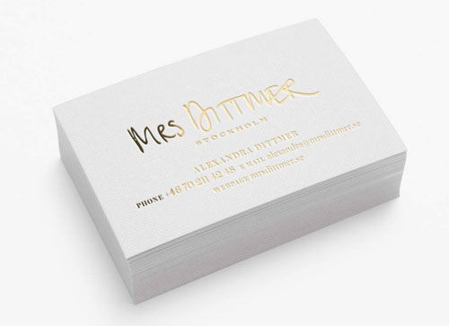Mrs. Dittmer business card
